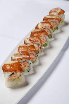 KumiKaze Roll made w/ Snow Crab, Cajun Spiced Salmon, and Lemon