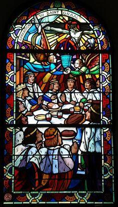 Chapelle du Graal - Tréhorenteuc (Morbihan) L'apparition du Saint-Graal