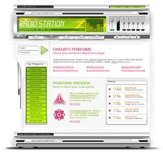 Radio Station Website Templates by Mercury
