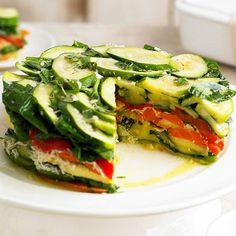 Layered Vegetable-Romano Torte / BHG |