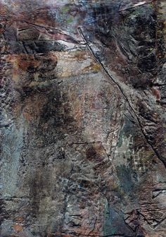 Used - Abstract, mixed media on canvas by mila blau