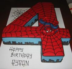 No. 4 Spiderman cake
