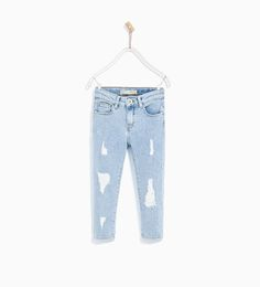 ZARA - KIDS - RIPPED JEANS WITH STUDS