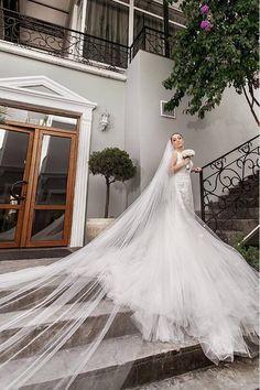 Elegant Long Single Tier Tulle Simple Bride Veils with Comb Wedding Dress Cost, Best Wedding Dresses, Bridal Dresses, Bridal Veils And Headpieces, Wedding Veils, Wedding Cake, Simple Wedding Vows, Elegant Wedding, Wedding Ideas