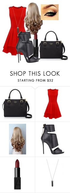 """""""Random"""" by kyanastyle ❤ liked on Polyvore featuring Kate Spade, Alexander McQueen, Giuseppe Zanotti, NARS Cosmetics and Karen Kane"""