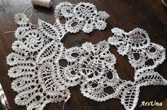 Bruges lace crochet. Брюггские кружева, вязание крючком.