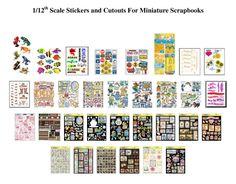 miniatures, scrapbook sticker, printi, scrapbook miniatur, miniature dollhouse, dollhous printabl, miniatur dollhous, imprim, mini printabl