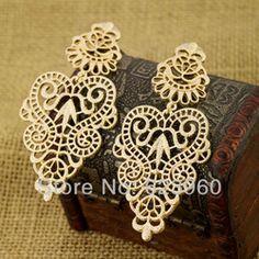 Online Shop Designer de jóias venda quente elegante da cor do ouro Metal oco brincos para mulheres|Aliexpress Mobile
