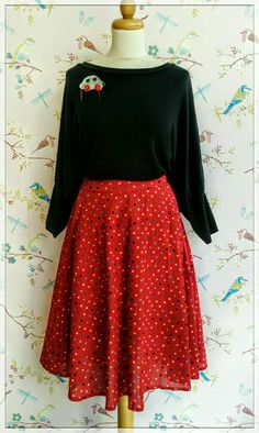 polka dot red swinging Skirt for your swinging moves