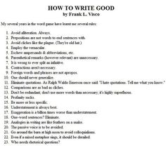 Tastefully Offensive: How To Write Good (advice,writing,humor)