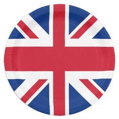 UK British Union Jack flag Great Britain Paper Plate  sc 1 st  Pinterest & British - UK - Great Britain - Union Jack flag Bumper Sticker | Jack ...