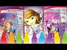Kids Coloring Book SOFIA THE FIRST MINNIE MOUSE Coloring Fun Set Fun Toy Little Wishes Kids Videos - YouTube