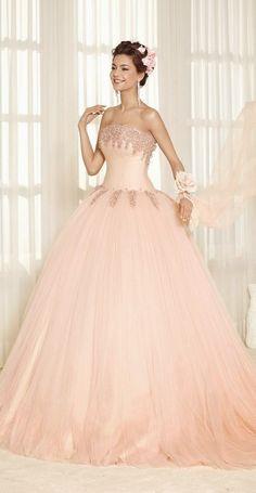 ♡ blush princess wedding dress or sweet 16