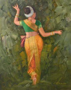 Vilas Chormale Indian Art Guru :: Dance Of Woman … Indian Women Painting, Indian Art Paintings, Indian Artist, Illustrations, Illustration Art, Saree Painting Designs, Indian Drawing, Copic Drawings, Dancing Drawings