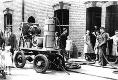 Old carpet cleaning machine! We love this!