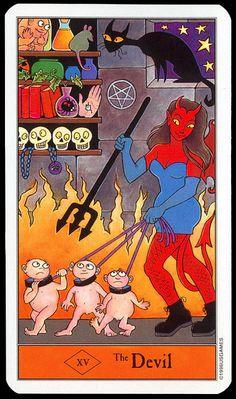 Halloween Tarot: The Devil.