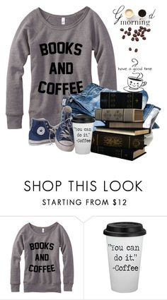 """Books And Coffee"" by nightowl59 ❤ liked on Polyvore featuring Converse, LULUS and polyvoreeditorial"