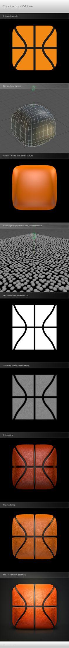 iOS App Icon Process   Basketball