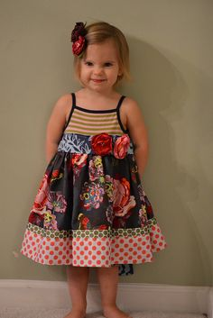 chickadee chickadee collage dress by ashleyculby, via Flickr Toddler Girl Dresses, Toddler Outfits, Girls Dresses, Girls Denim Dress, Frock Patterns, Pillowcase Dresses, Children Clothing, Cute Outfits For Kids, Wren