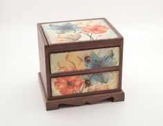 Decoupage flower commode decoupage jewelry commode by PastimeArt