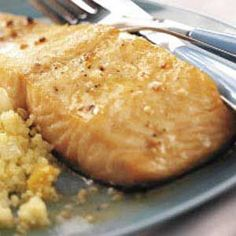 Lemon Butter Salmon - this is so delicious! Reserving some of the lemon butter for serving with it totally made the dish Salmon Recipes, Fish Recipes, Seafood Recipes, Cooking Recipes, Healthy Recipes, Cooking Fish, Steak Recipes, Diabetic Recipes, Cooking Ideas