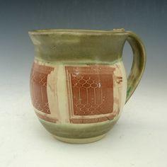 Handmade Pottery Coffee Mug in Green - Oak Park Windows on Etsy, $22.00