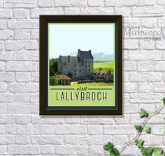 Outlander Travel Poster  |  Visit Lallybroch  |  Instant Download  |  Print it yourself