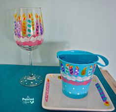Fearless Friday, Candle Party Plates | The Painted Apron