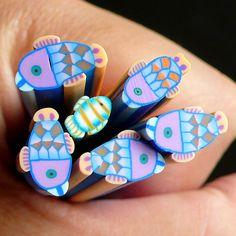 Koi Fish Polymer Clay Cane Kawaii Fish Fimo Cane by MiniatureSweet