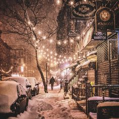 New York City Feelings - new york city in the snow by Vivienne Gucwa 9th Street East Village