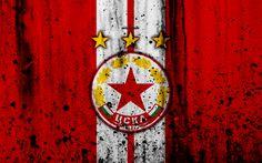 Download wallpapers 4k, FC CSKA Sofia, grunge, Parva Liga, soccer, football club, Bulgaria, CSKA Sofia, logo, art, stone texture, CSKA Sofia FC