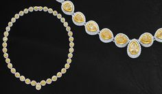 Pear-Shape Yellow Diamond Necklace