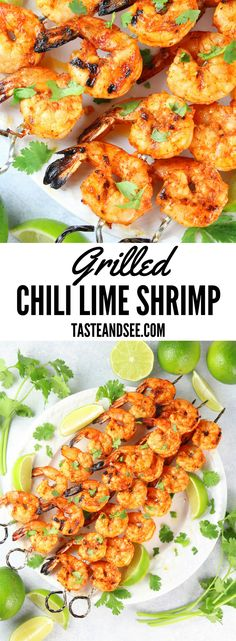 These grilled chili-lime shrimp are a quick, easy, tasty . - These grilled chili-lime prawns are a quick, easy, tasty … – Taste And See – Recipes From The - Lime Shrimp Recipes, Chili Lime Shrimp, Seafood Recipes, Marinade For Shrimp Kabobs, Grilling Shrimp, Easy Grilled Shrimp Recipes, Grilling Burgers, Salads, Clean Eating Snacks