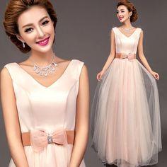 Amazon.co.jp: Doremo global ウェディングドレス ロングカラードレス/Vライン/エンパイアライン/結婚式/二次会/花嫁ドレス (L): 服&ファッション小物