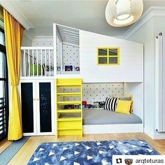 Kids' room without bunk beds is empty of fun and color. The trendy bunk beds these days that are mak Cool Bunk Beds, Kids Bunk Beds, Kids Beds For Boys, Cool Beds For Kids, Cool Bedrooms For Boys, Kids Bedroom, Bedroom Ideas, Kids Rooms, Teen Rooms