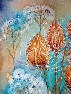 Watercolour Florals: Teasels