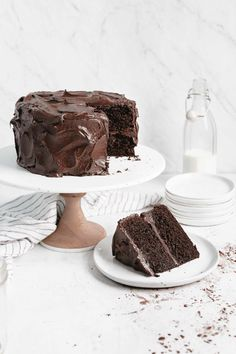 Ingredients For Chocolate Cake, One Bowl Chocolate Cake Recipe, Super Moist Chocolate Cake, Decadent Chocolate Cake, Best Chocolate Cake, Chocolate Buttercream, How To Make Chocolate, Choco Chocolate, Chocolate Recipes