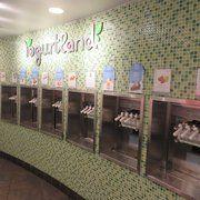Photo of Yogurtland - Boston, MA, United States. frozen yogurt wall 12/2013