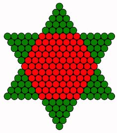 Christmas tree star back perler bead pattern