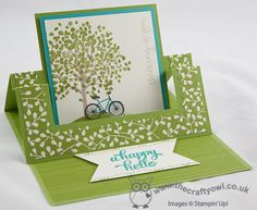 The Crafty Owl | Sheltering Tree Swing Easel Card