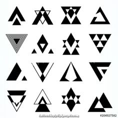 Logo Discover Abstract Geometric Shapes Triangles - Buy this stock vector and explore similar vectors at Adobe Stock Abstract Geometric Shapes Triangles - Buy this stock vector and explore similar vectors at Adobe Stock Geometric Shapes Design, Geometric Nature, Geometric Tattoo Design, Geometric Logo, Abstract Shapes, Geometric Symbols, Triangle Tattoo Design, Abstract Geometric Art, Geometric Sleeve