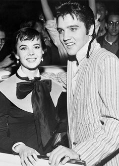 Natalie Wood and Elvis Presley outside the Hotel Chisca, October 31, 1956.