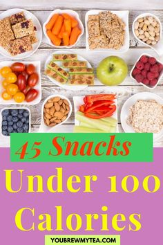 When changing eating habits to lose weight, You Brew My Tea says replace high calorie snacks with ones that are 100 calories or less. We have compiled a list of 45 snacks that would meet this criteria. You may find that you eat healthy foods but it's those snacks that can undermine all your weight loss efforts. When you go food shopping take our list of these under 100 calorie snacks and see weight loss success. Download the list here… #under100caloriesnacks #lowcaloriesnacks #snackstoloseweight