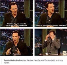 Benedict on Harrison Ford
