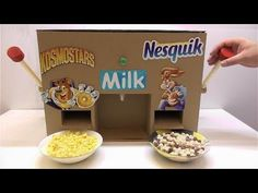How to make Nesquik and Kosmostars machine with milk - YouTube
