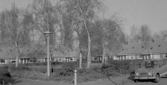 1953. A view of the Monnikendammerweg in the Tuindorp-Nieuwendam neighborhood in Amsterdam-Noord. The village of Nieuwendam was a separate municipality until 1921, when it was merged with Amsterdam. The municipality included the villages of Nieuwendam and the nearby Zunderdorp. #amsterdam #1953 #Monnikendammerweg