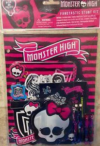 Monster High School Supplies Study Kit New | eBay
