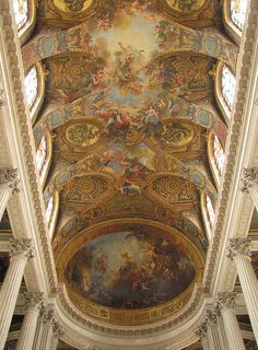 Palace of Versailles - Royal Chapel's Ceiling. Amazing is not even close to describe this work of art!