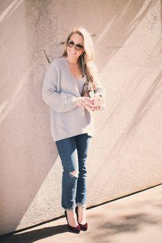 Cuyana Oversized Ribbed Sweater by North Carolina fashion blogger Every Chic Way