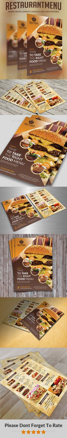 #Restaurant #Menu - #Food Menus Print Templates Download here: https://graphicriver.net/item/restaurant-menu/20372805?ref=alena994